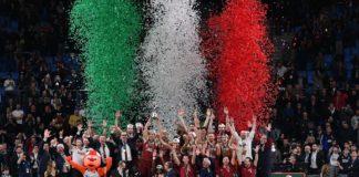 La Reyer Venezia festeggia la vittoria della Coppa Italia