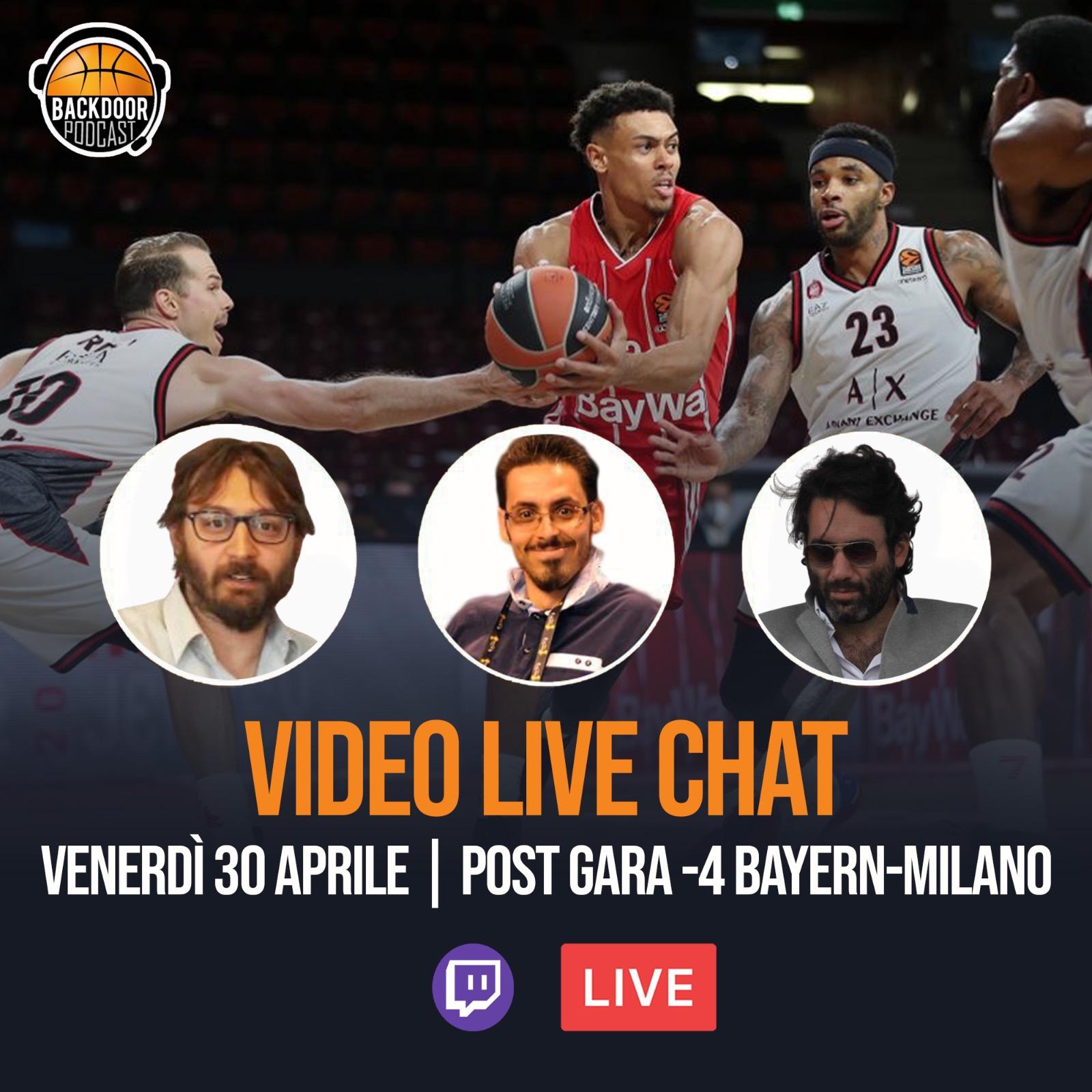 Live chat: post Bayern Monaco-Olimpia G4 con Real Olimpia Milano